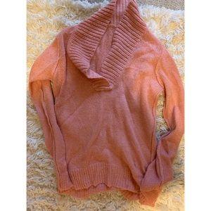 J Crew pink cowl neck sweater